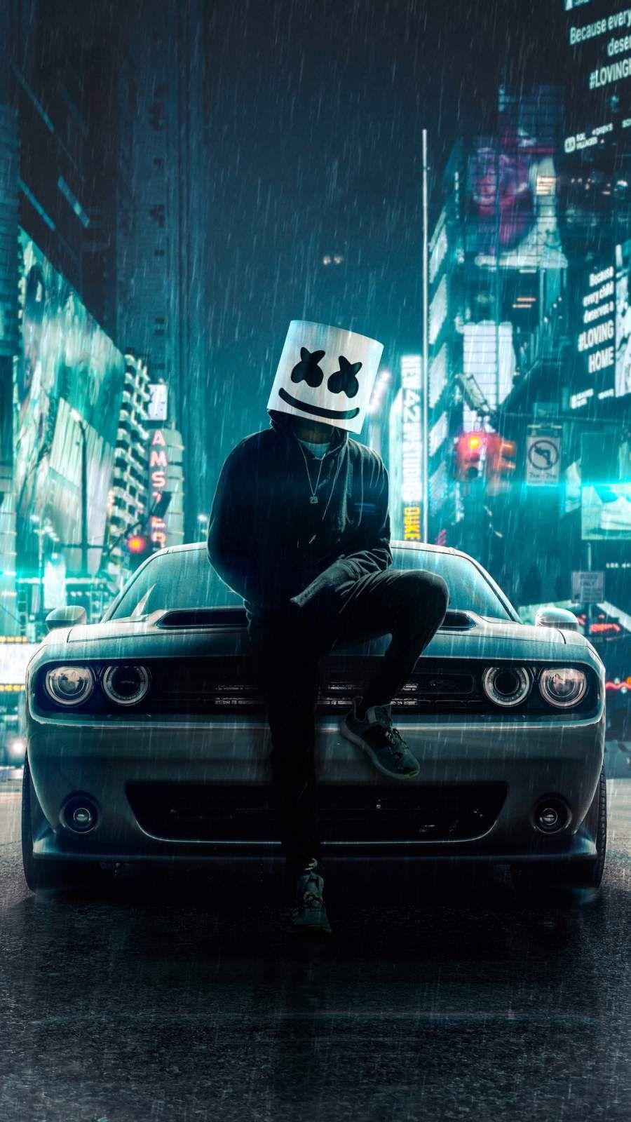 Marshmello Dodge Car Iphone Wallpaper In 2020 Car Iphone