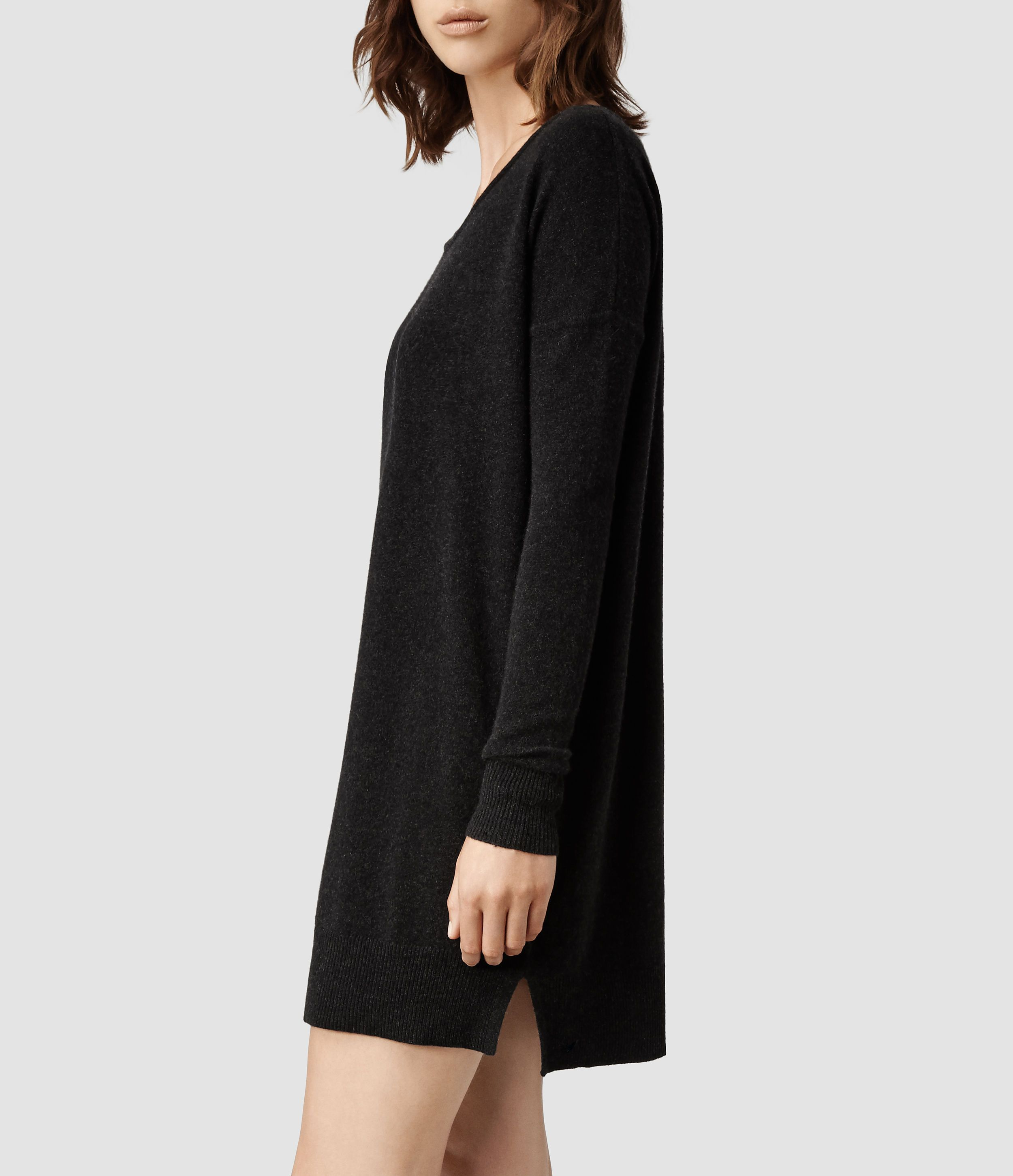 Allsaints Char Cashmere Jumper Dress in Black | My Style ...