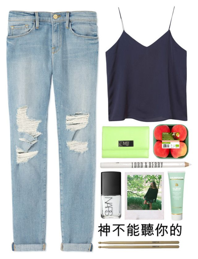"""..."" by simsga ❤ liked on Polyvore featuring Monki, Frame Denim, Gai Mattiolo, Lord & Berry, NARS Cosmetics, Darphin and SRH"