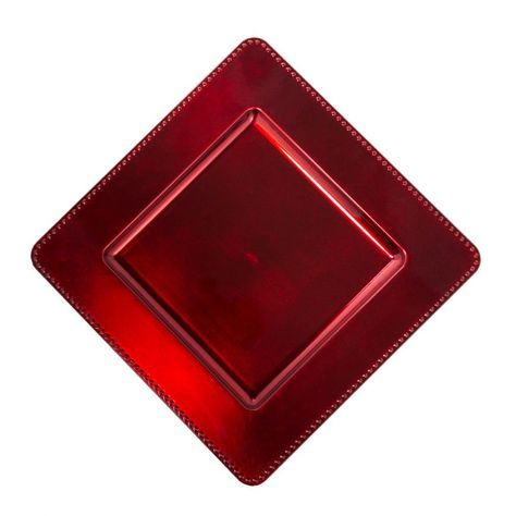 13 in. Red Square Charger Plates 4/pack | DIY | Pinterest | Squares