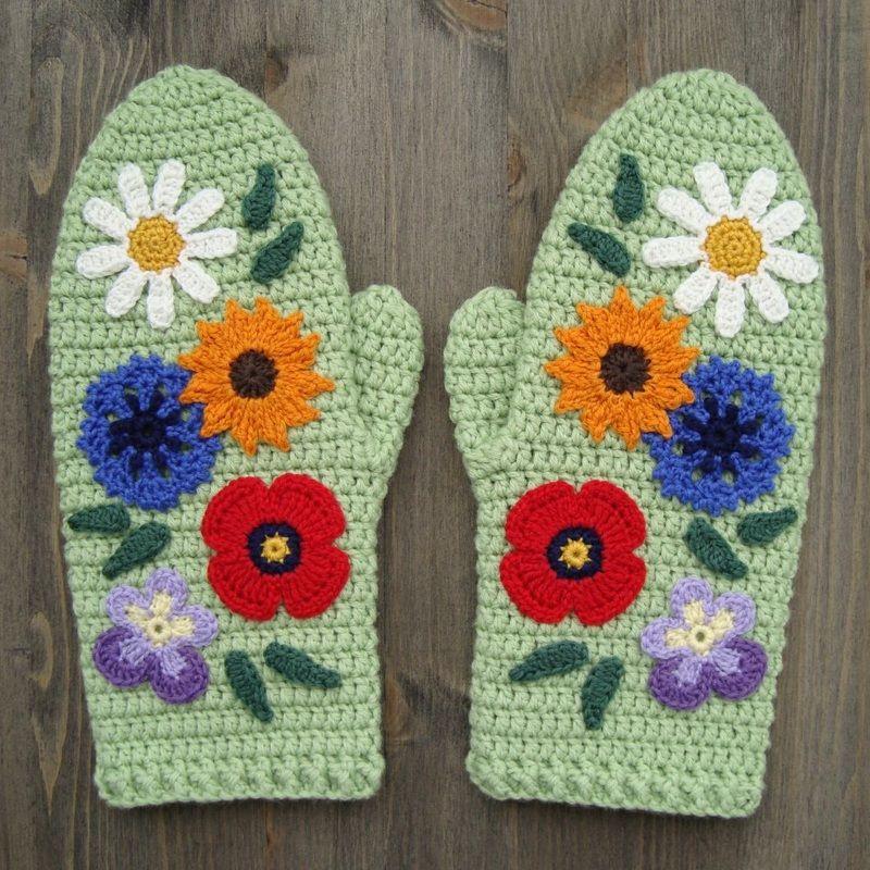 A Dream Of Summer Crochet Mittens Free Pattern Crochet Patterns