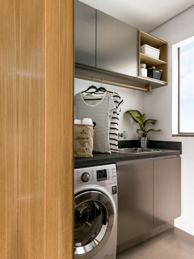 Nada de deixar a lavanderia esquecida. Um bom projeto garante a praticidade, a organização e, claro, a beleza!