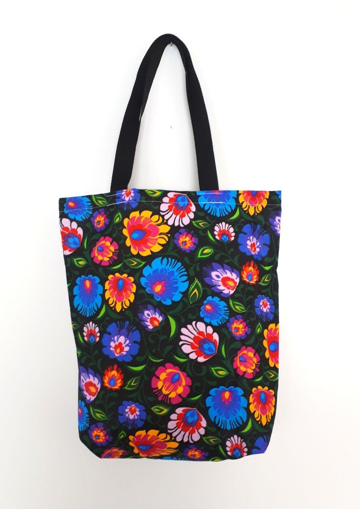 Bawelniana Eko Torba Geometria Reusable Tote Bags Bags