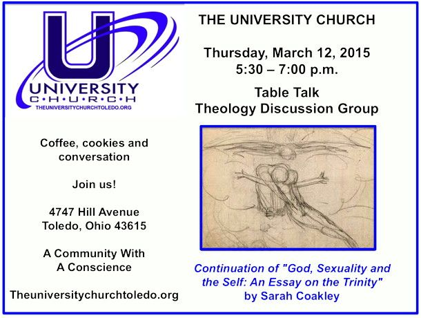 Theology Discussion Group At The University Church Thursday March 12 2015 5 30 7 00 P M Essay On Sexuality