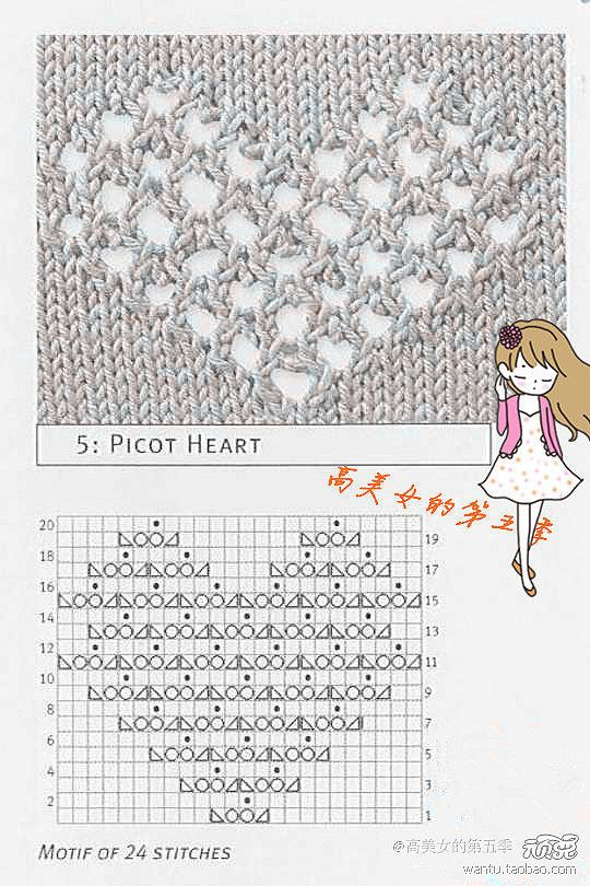 patron calado corazon | Knitting Techniques and Patterns | Pinterest ...
