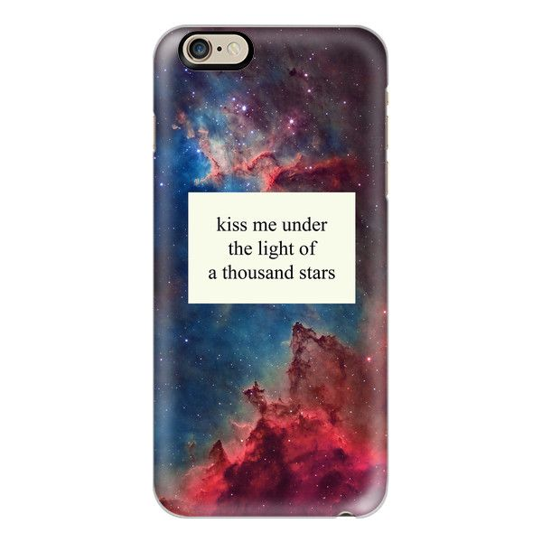 A Thousand Stars - Ed Sheeran Quote - iPhone 6s Case,iPhone 6... ($40) ❤ liked on Polyvore featuring accessories, tech accessories, iphone case, iphone cover case, apple iphone case, slim iphone case, clear iphone case and iphone cases