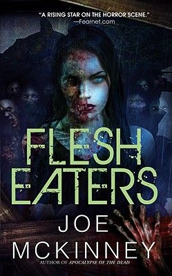 Flesh Eaters by Joe McKinney.  After a series of devastating hurricanes, Houston has been quarantined to stop the spread of a zombie plague.  Anyone caught trying to escape is shot on the spot.  And Emergency Ops sergeant, Eleanor Norton, has to maintain order while the zombies multiply by the hour.