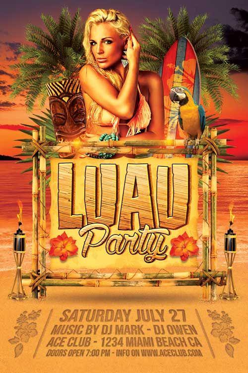 Luau Party Flyer  HttpXtremeflyersComLuauPartyFlyer Luau