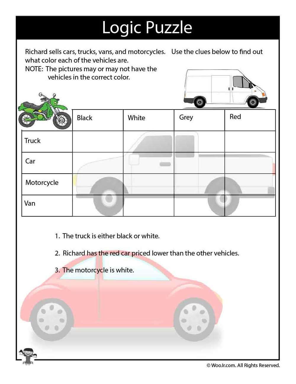photograph relating to Logic Puzzles Easy Printable referred to as Variables that Transfer Logic Puzzle Printable Mind teasers