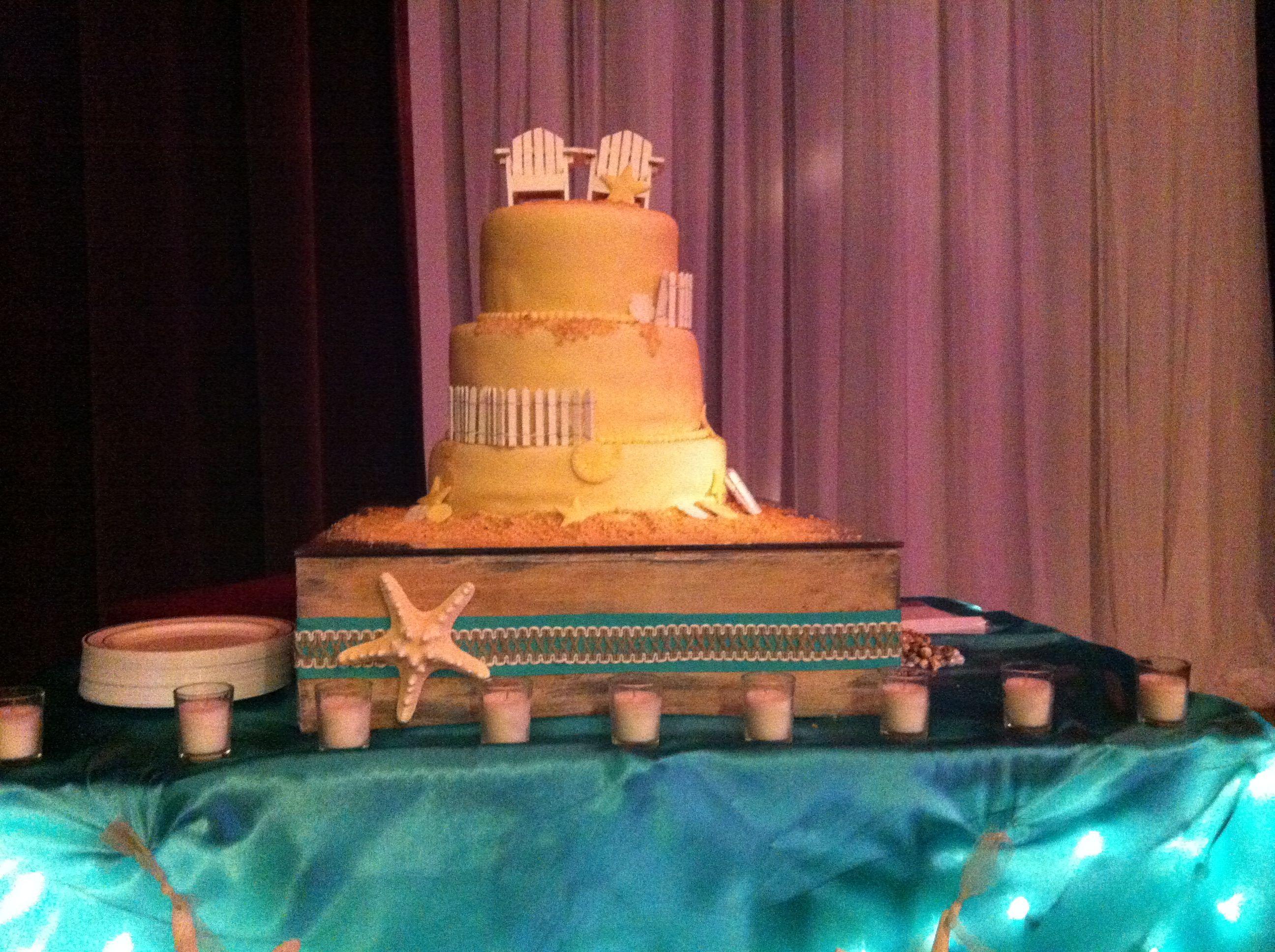 Amanda's wedding cake.