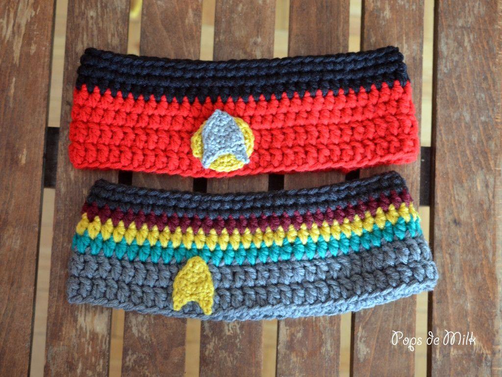 Star Trek: The Next Generation Crochet Headbands | Stricken und ...