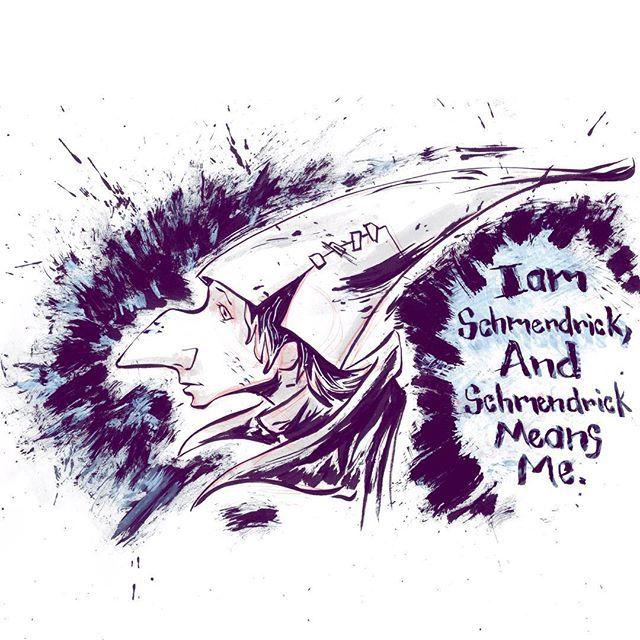 I am Schmendrick and Schmendrick means me. #thelastunicorn #schmendrick #wizard #mrjaymyers #artoftheday #artistofinstagram #artistoninstagram #drawventure #pentel #PentelRoadTrip #modmypentel
