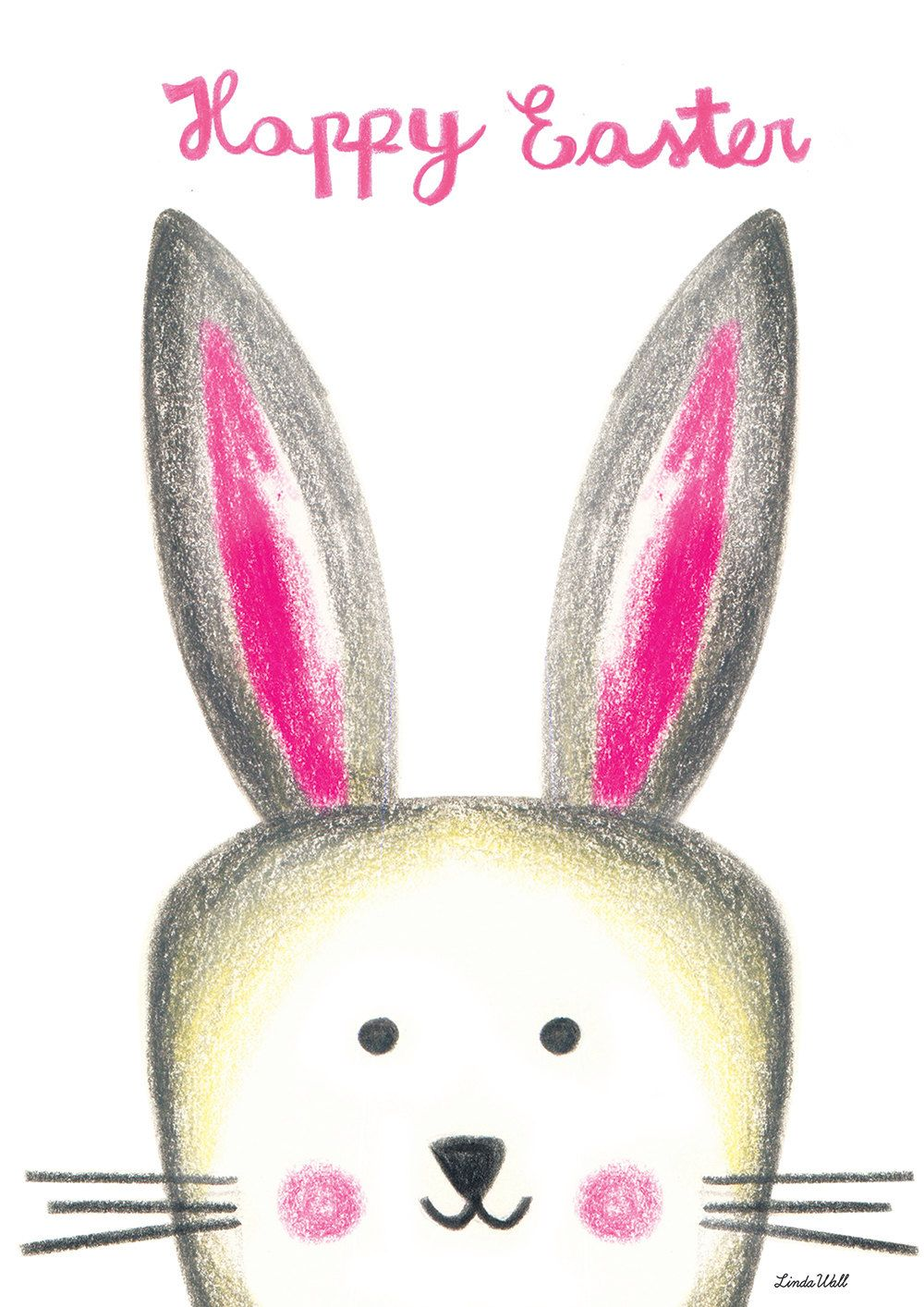 Cute bunny easter card printable diy easter card easter