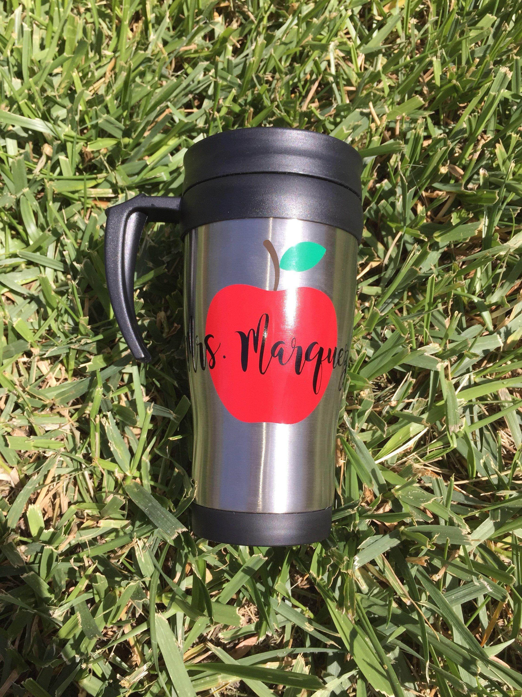 Teacher travel mug with handle, 14 oz Stainless Steel