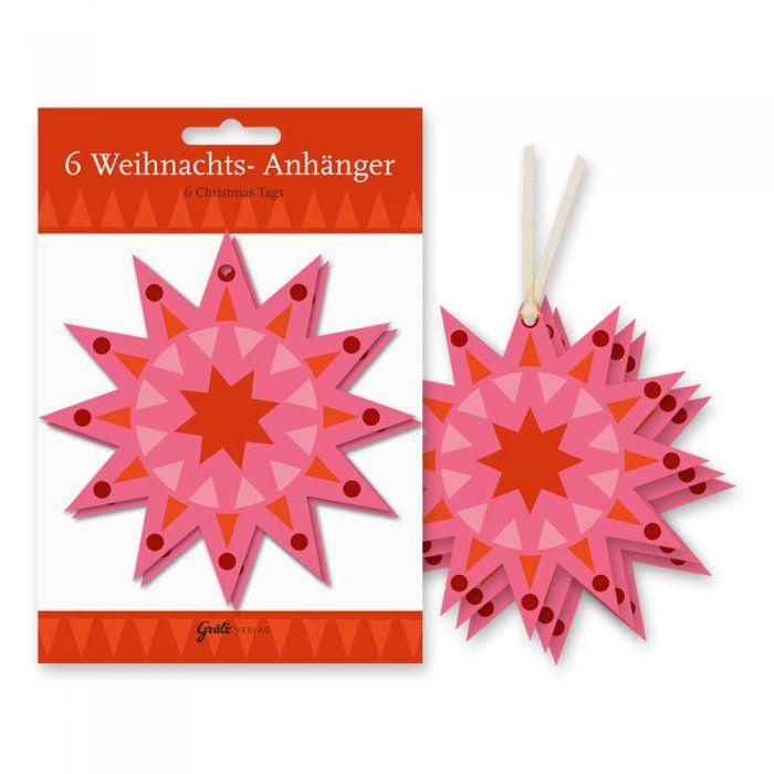 Geschenkanhänger Sterne Pink