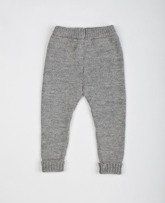 da8665df3 Alpaca wool gray leggings / baby pants / girls warm por Ingugu ...