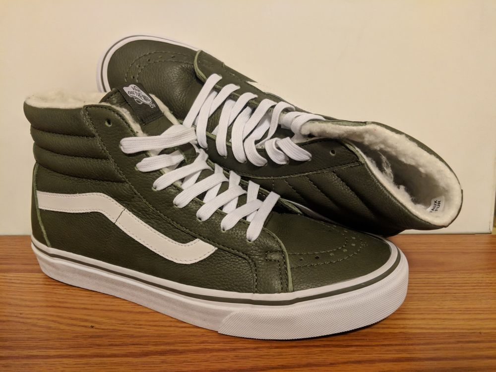 8da0712d0d VANS New Sk8-Hi Reissue Leather Fleece Vault Size Men s USA 9 UK 8.5 EUR 42   fashion  clothing  shoes  accessories  mensshoes  athleticshoes (ebay link)