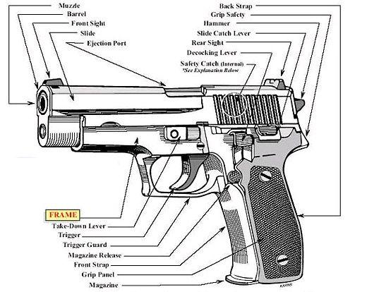 posts handgun and anatomy on pinterest : handgun parts diagram - findchart.co