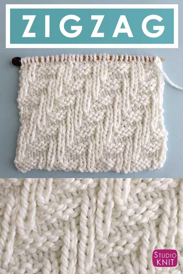 How to Knit the Diagonal Chevron Zigzag Knit Stitch Pattern