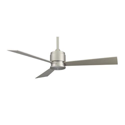Fanimation fans modern ceiling fan without light in satin nickel finish fp4630sn destination lighting