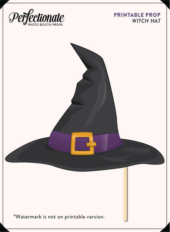 image about Witch Hat Printable known as Printable Witch Hat Prop Halloween Printable Prop Do-it-yourself