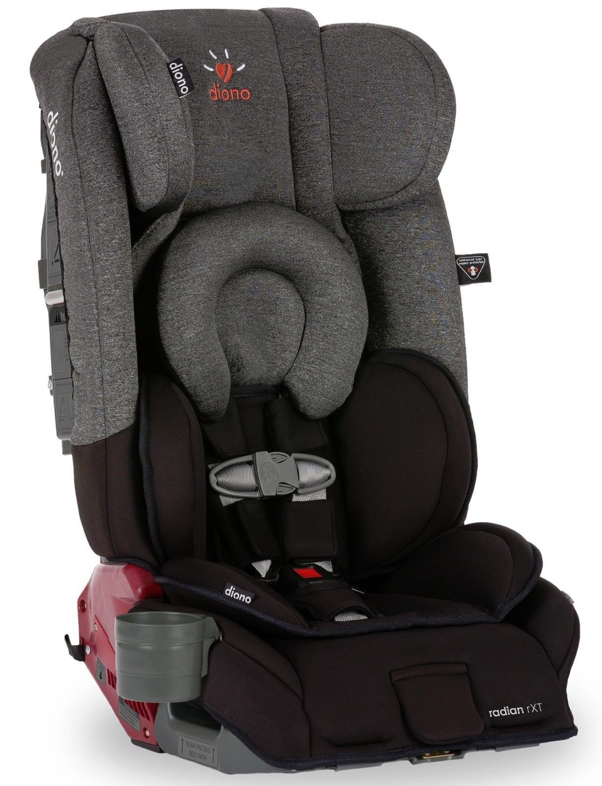 Diono Radian RXT Black Cobalt Convertible + Booster Folding Car Seat