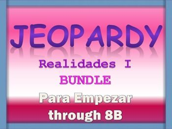 jeopardy reviews - realidades 1 - prelim to chapter 8b, Powerpoint templates