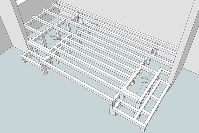 estrade et lit fredfabric appart pinterest lits chambres et combles. Black Bedroom Furniture Sets. Home Design Ideas