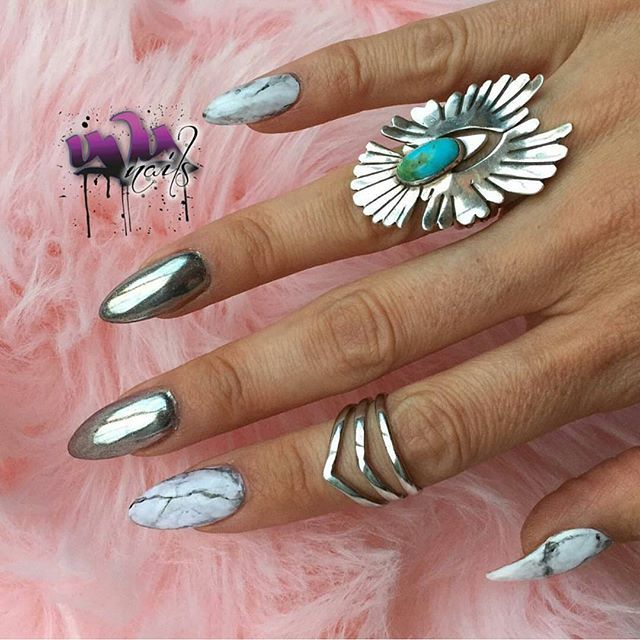 By Create This Highly Sought After Look Using Our Mirror Nails Chrome Magic Powder Available For Pre Order Now At Dailycharme Com