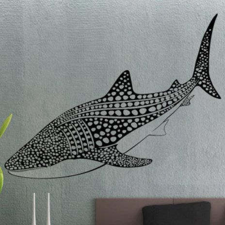 Whale Shark - uBer Decals Wall Decal Vinyl Decor Art Sticker Removable Mural Modern A861
