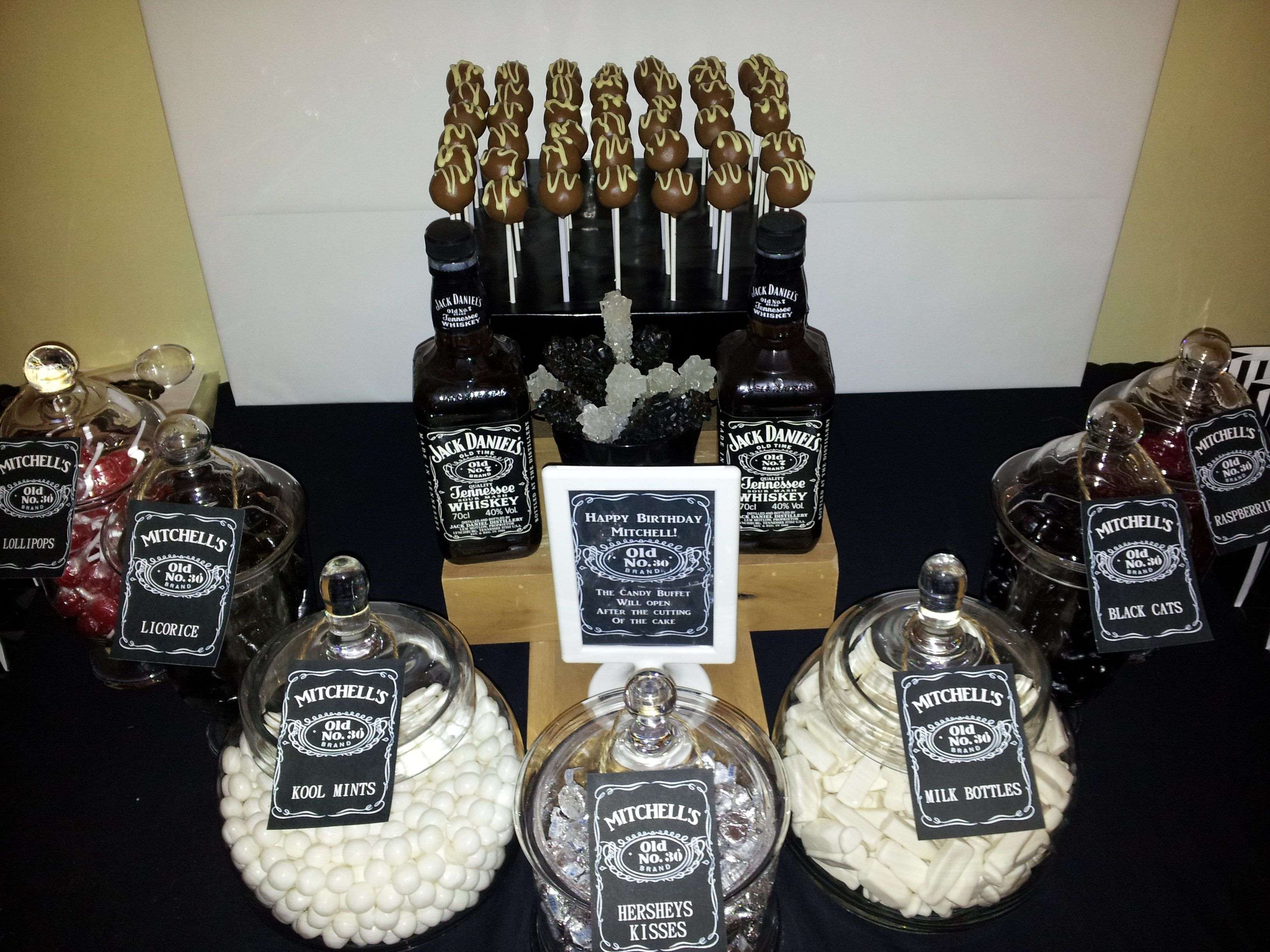 Jack daniels themed 30th birthday jack daniels 39 male for 35th birthday decoration ideas