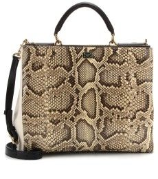 Find this Pin and more on Bags by snwti. Dolce ... Dolce and Gabbana Python  and Leather Medium Miss Sicily Shopper Tote. nextprev ... 1c3b559884224