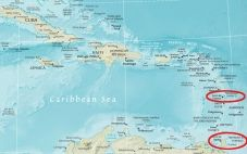 Trinidad And Tobago Is From The Martinique 441km Distance As The