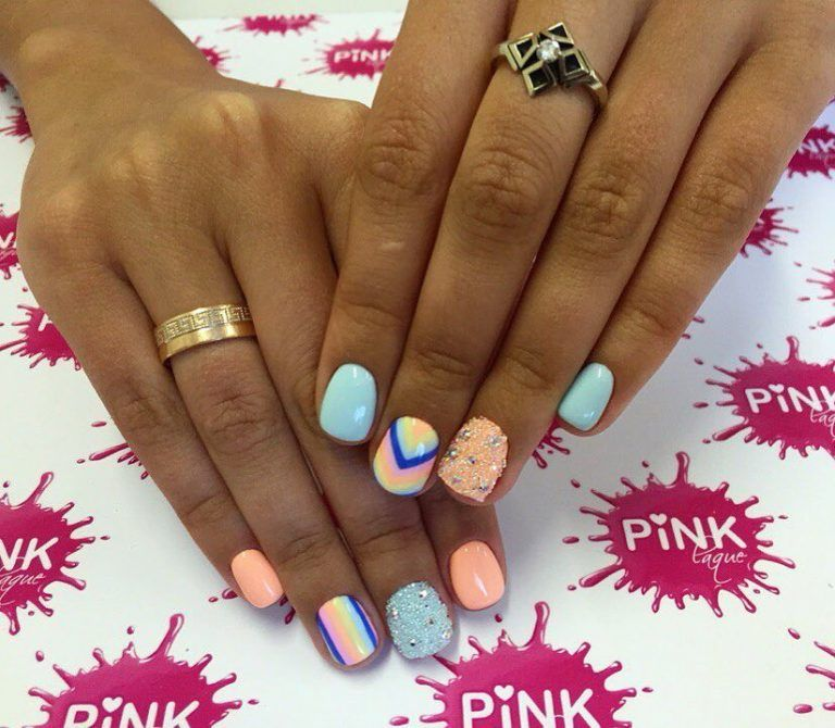 Beautiful Nail Colors Bright Colorful Nails Fashion 2017 Art