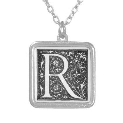 Vintage Illuminated Monogram Letter R Necklace - vintage gifts retro ideas cyo