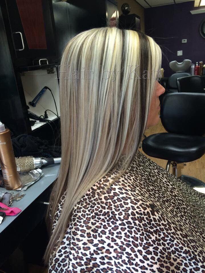 Platinum Blonde With Dark Lowlights