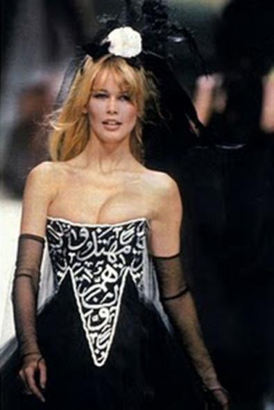 The Scandalous Dress In 1994 The Designer Karl Lagerfeld