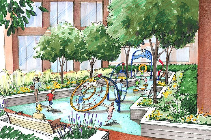 Landscape architecture sketches drawn sketches to formal