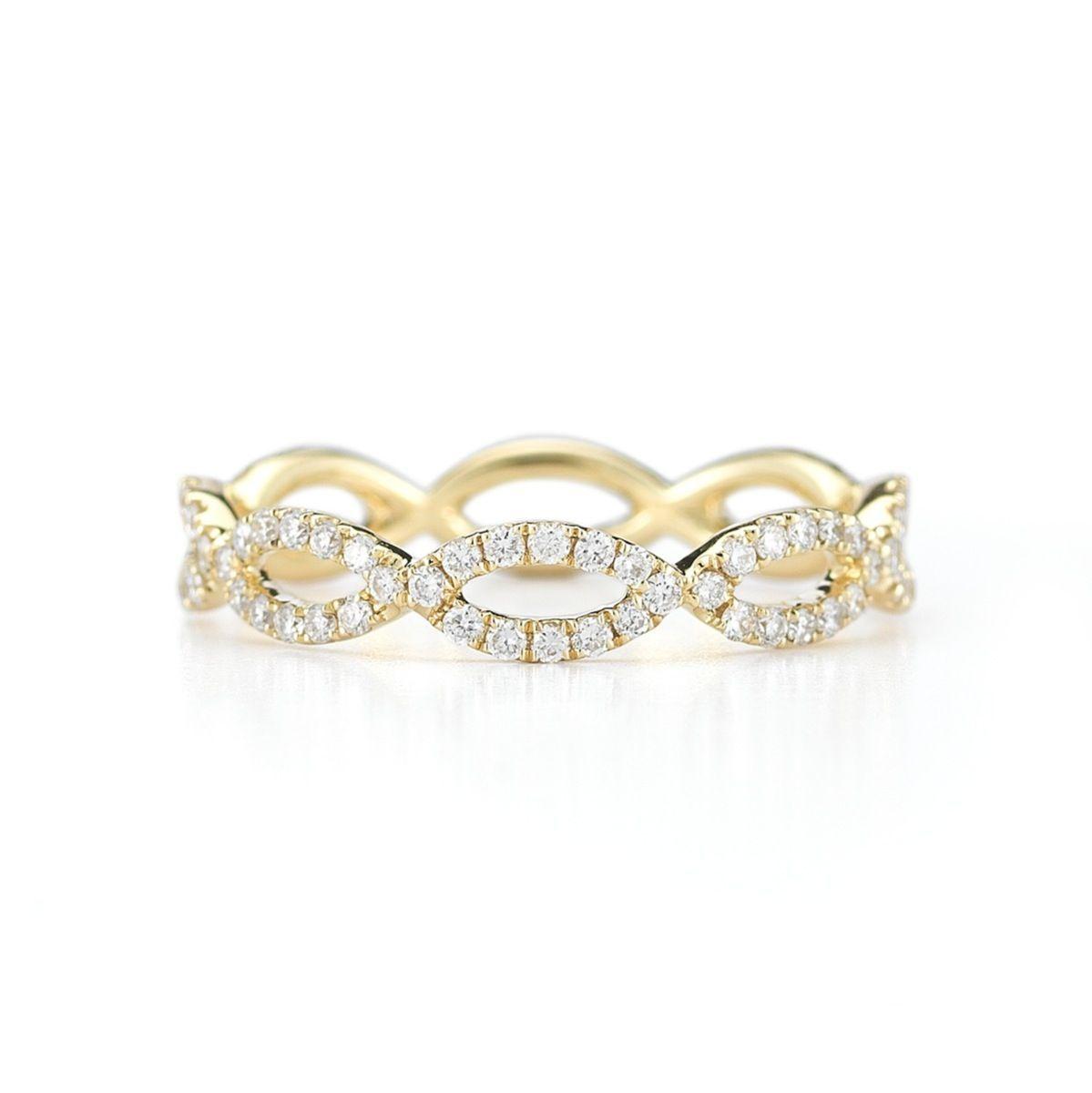 Sophia ryan diamond yellow gold infinity ring r jewelry