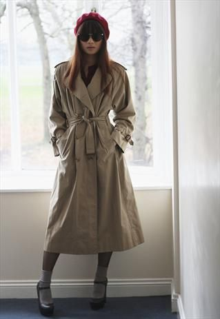 68b2e359c Vintage Burberry Full Length Trench Coat-----C.O.O.L! | Fashion I ...
