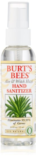 Burt S Bees Hand Sanitizer Aloe Witch Hazel 2 Ounce Bottle