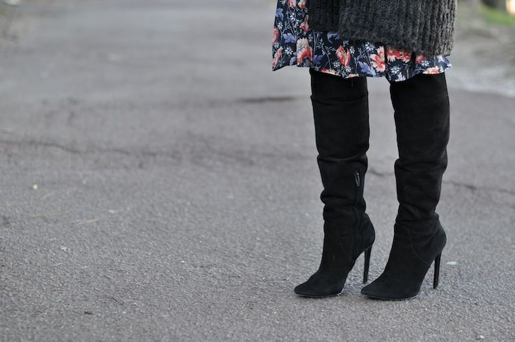 L'hiver en fleur | LovaLinda x Alexander Wang Over The Knee Boots