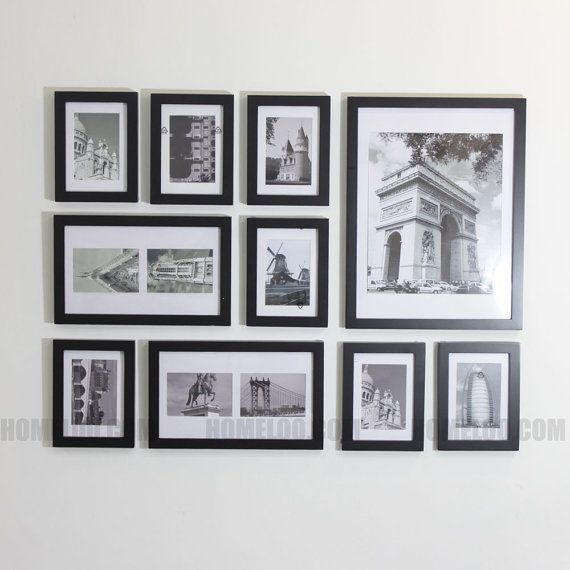 Photo Picture Frame Set Modern 10 Frame Wall Collage Picture Collage Wall Frames On Wall