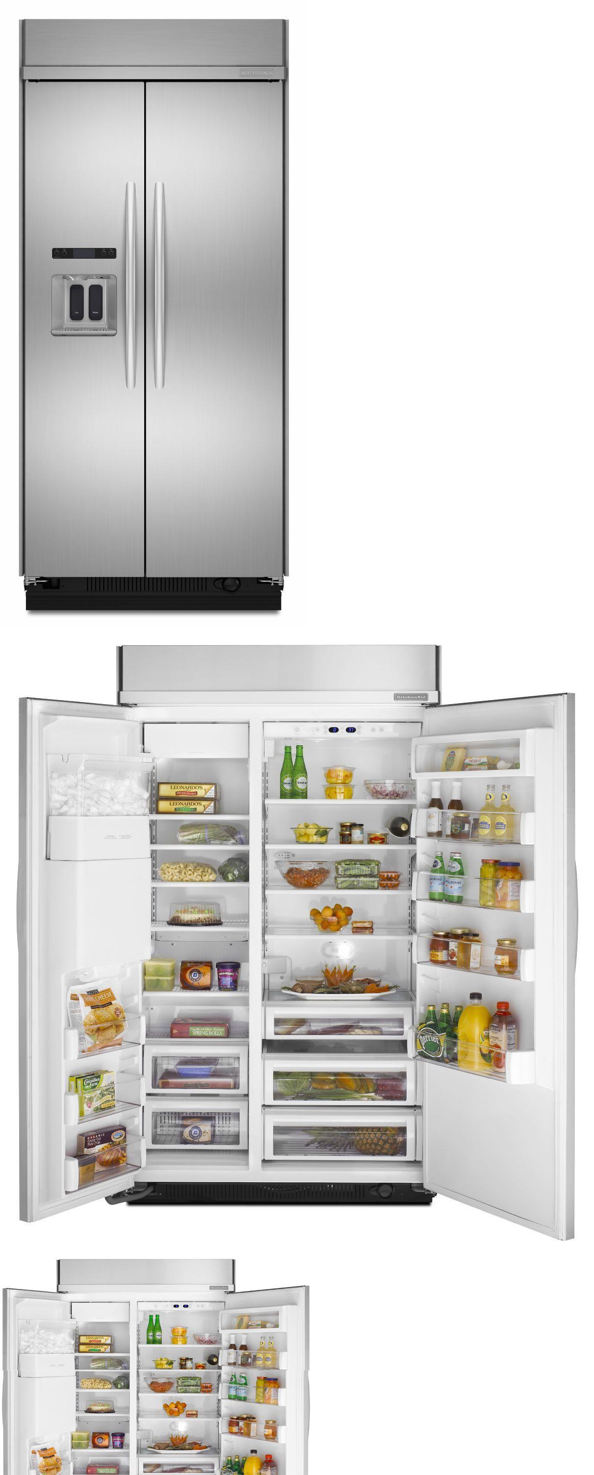 Refrigerators 20713: Kitchenaid Kssc48qvs 48 Built In Side By Side Refrigerator  Architect Series Ii