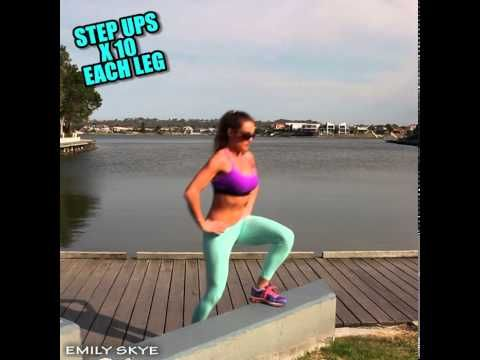 Fat burning outdoor workout - Blog Post - Emily Skye
