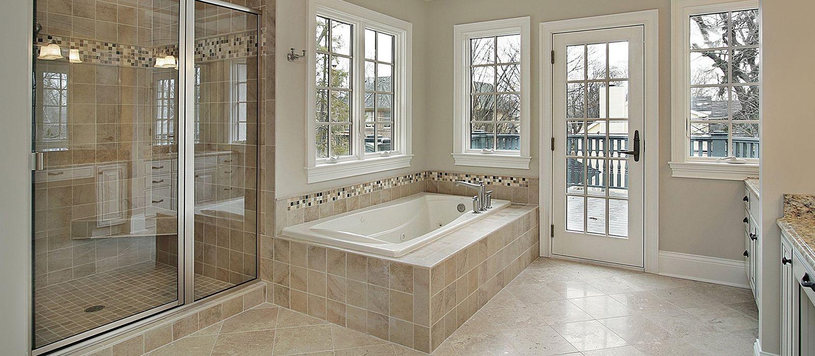 Bathroom, : Archaic Picture Of Walk In Bathtub With Shower Decoration Using  Cream Travertine Porcelain Tile Bathtub Surround Including Sliding Glass  Shower ...
