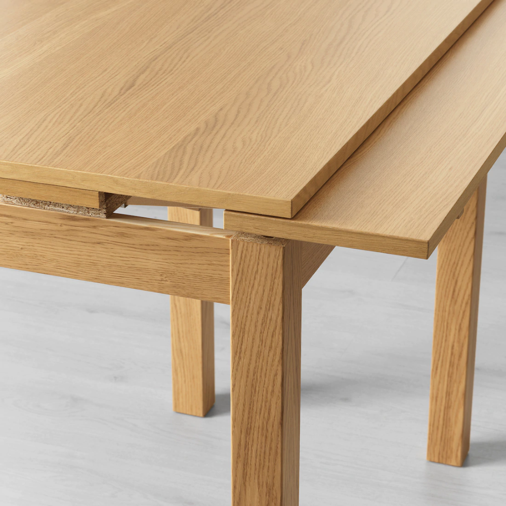 Bjursta Extendable Table Oak Veneer Table Ikea Dining Table
