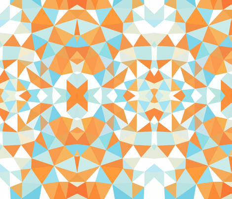 Colorful Fabrics Digitally Printed By Spoonflower Goldfish Tris