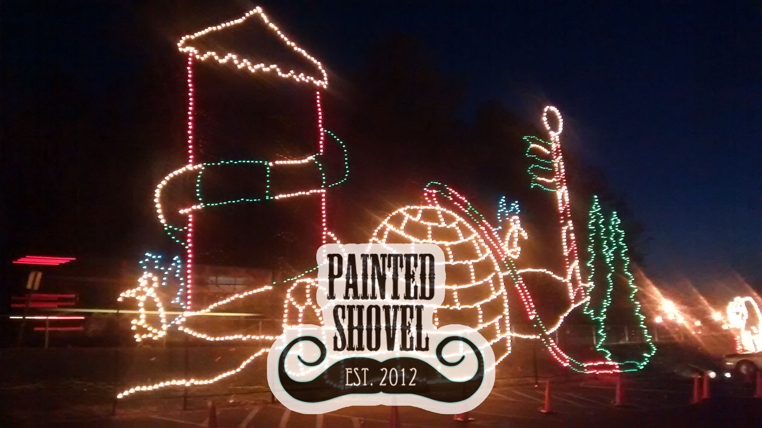 Holiday decorations and lights at 2014 Oak Mountain Festival of ...