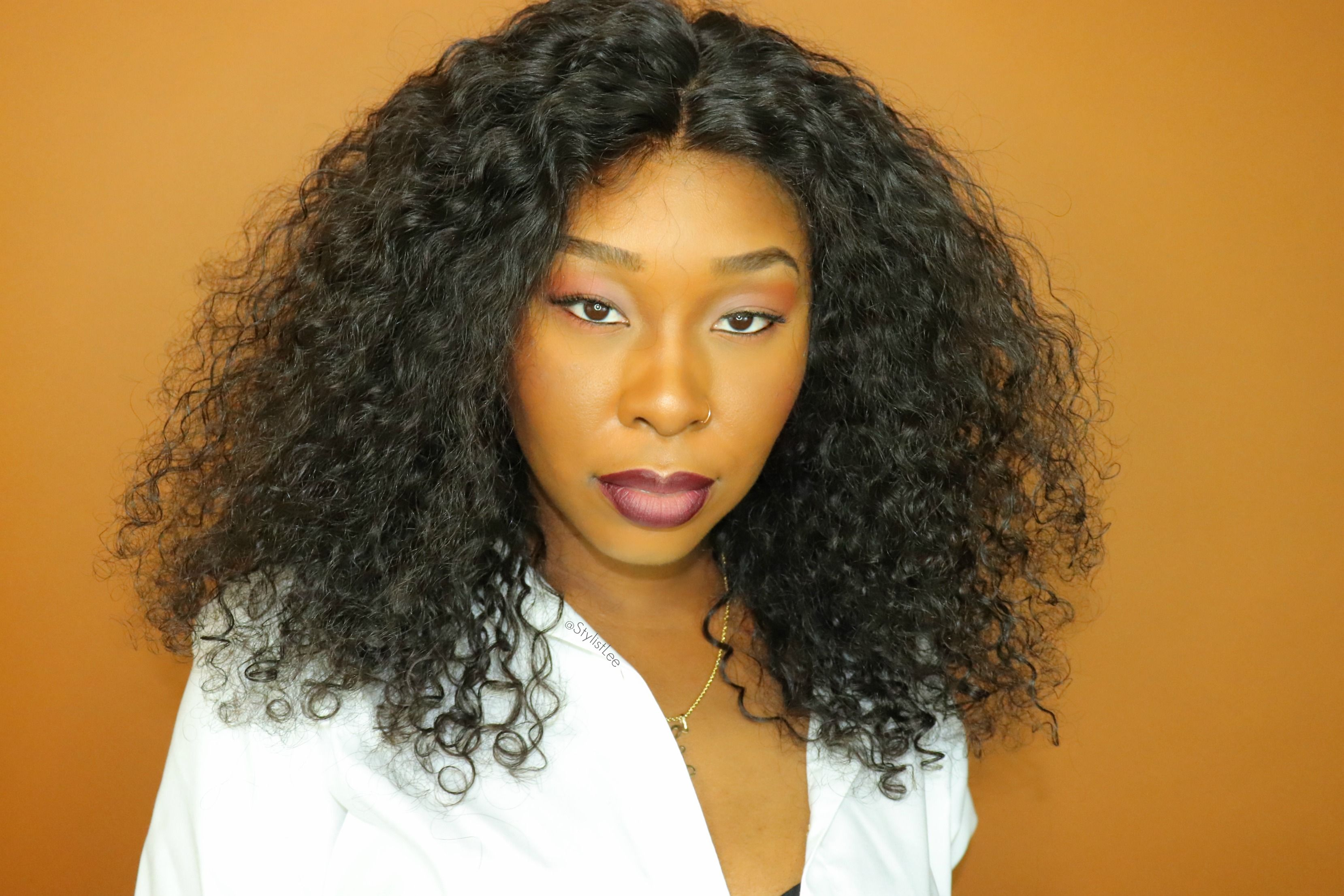Becky Lace Front Curly Wig 16 inch hair, Curly color